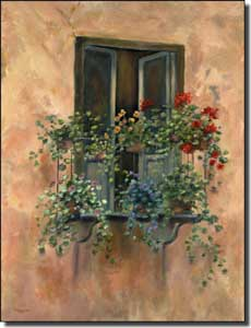 "Martinelli Tuscan Balcony Ceramic Accent Tile 6"" x 8"" - FMA003AT"