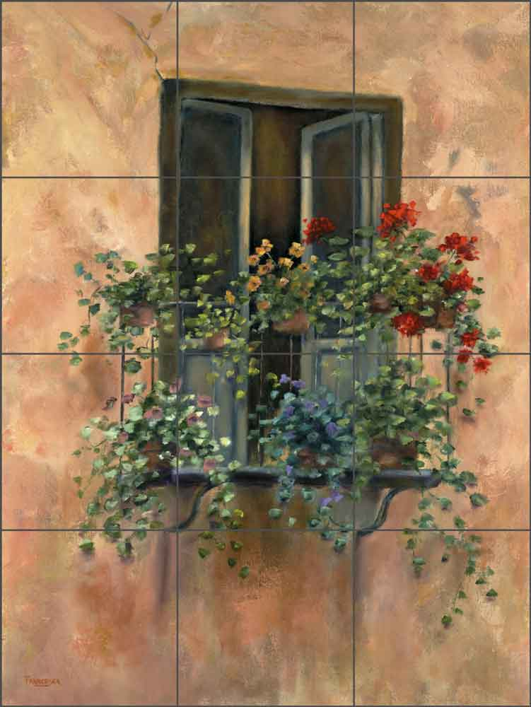 Balcony I by Francesca Martinelli Ceramic Tile Mural - FMA003
