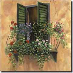 "Martinelli Tuscan  Balcony Ceramic Accent Tile 4.25"" x 4.25"" - FMA004AT2"