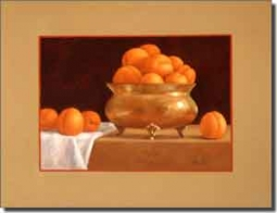 "Poole Apricot Fruit Ceramic  Accent Tile 8"" x 6"" - FPA004AT"