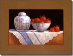 "Poole Fruit Strawberry Ceramic Accent Tile 8"" x 6"" - FPA005AT"
