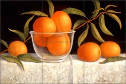 Peaches by Frances Poole Ceramic Tile Mural FPA007-2