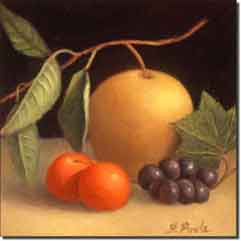 "Poole Fruit  Ceramic Accent Tile 8"" x 8"" - FPA008AT"