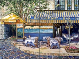 Cook Mediterranean Cafe Art Ceramic Tile Mural GCS010