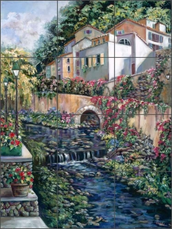 Road to Labastide by Ginger Coook Ceramic Tile Mural - GCS013