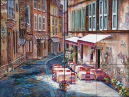 Afternoon in Albi by Ginger Cook Ceramic Tile Mural - GCS016