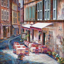 Afternoon in Albi by Ginger Cook Ceramic Accent & Decor Tile - GCS016AT