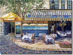 "Cook Mediterranean Cafe Glass Tile Mural 24"" x 18"" - GCS010"
