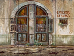 Tuscan Tavern by Ginger Cook Ceramic Tile Mural - GCS021