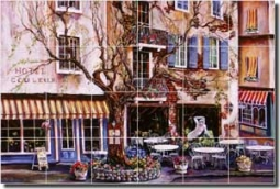 "Cook Village Cafe Ceramic Tile Mural 25.5"" x 17"" - GCS023"