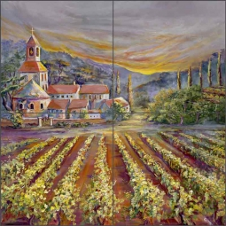 Mission Sunrise by Ginger Cook Ceramic Tile Mural GCS032
