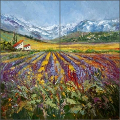 Field of Dreams by Ginger Cook Ceramic Tile Mural - GCS051