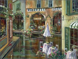 Afternoon in Collioure by Ginger Cook Ceramic Tile Mural - GCS054