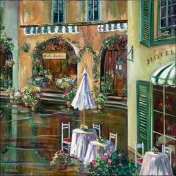 Afternoon in Collioure by Ginger Cook Ceramic Accent & Decor Tile - GCS054AT