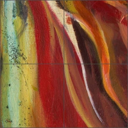 Abstract 1 by Ginger Cook Ceramic Tile Mural - GCS067