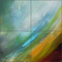 Abstract 6 by Ginger Cook Ceramic Tile Mural - GCS072