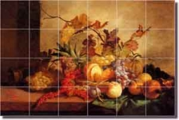 "Lance Fruit Art Kitchen Ceramic Tile Mural 25.5"" x 17"" - GL3001"