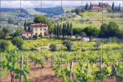 Chianti Estate by June Carey Ceramic Tile Mural - GW-JC007