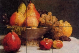 Bowl of Fruit by Ignace Fantin-Latour Ceramic Tile Mural IHJTFL006