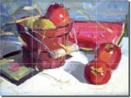 "Crowe Fruit Watermelon Ceramic Tile Mural 24"" x 18"" - JAC002"