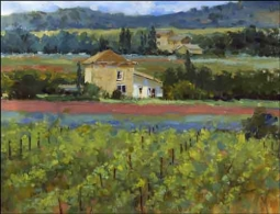 Crowe Provence Vineyard Landscape Ceramic Accent Tile - JAC011AT