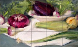 Crowe Kitchen Vegetables Ceramic Tile Mural - JAC021