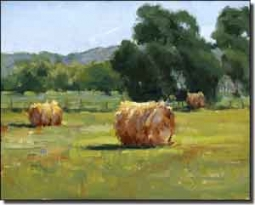 "Crowe Country Landscape Ceramic Accent Tile 10"" x 8"" - JAC060AT"