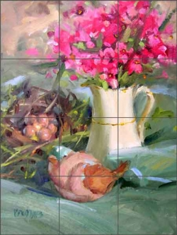 Song of Spring by Judy A. Crowe Ceramic Tile Mural - JAC062