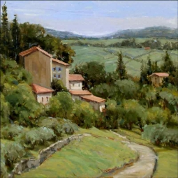 Above the Olive Groves by Judy A Crowe Ceramic Accent & Decor Tile - JAC076AT