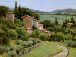 Above the Olive Groves by Judy A Crowe Ceramic Tile Mural - JAC076
