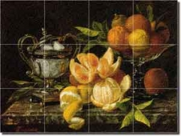 "Capeinick Orange Lemon Fruit Glass Tile Mural 24"" x 18"" - JC2001"