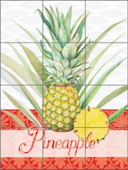 Chamberlain Pineapple Fruit Ceramic Tile Mural - JC5-002