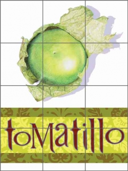 Chamberlain Tomatillo Fruit Ceramic Tile Mural - JC5-003