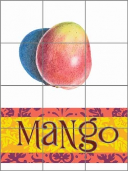 Chamberlain Mango Fruit Ceramic Tile Mural - JC5-004