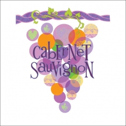Cabernet Sauvignon by Joan Chamberlain Ceramic Accent & Decor Tile - JC5-008AT