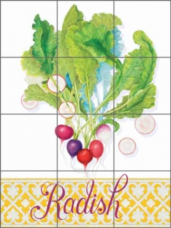 Chamberlain Radish Vegetable Ceramic Tile Mural - JC5-014
