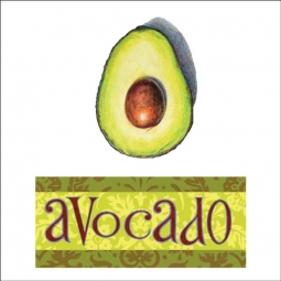 Avocado by Joan Chamberlain Ceramic Accent & Decor Tile - JC5-015AT