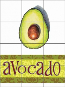 Chamberlain Avacado Fruit Ceramic Tile Mural - JC5-015