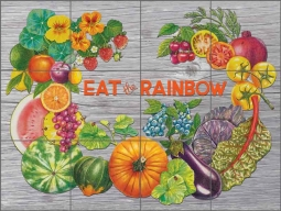 Chamberlain Fruits Vegetables Ceramic Tile Mural - JC5-017