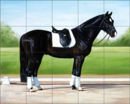 Dressage Portrait by Janet Crawford Ceramic Tile Mural - JCA006