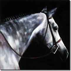 "Crawford Equine Horse Ceramic Accent Tile 8"" x 8"" - JCA014AT"