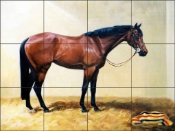 Stall Pose by Janet Crawford Ceramic Tile Mural - JCA023