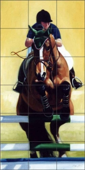 Wellington Jumper by Janet Crawford Ceramic Tile Mural - JCA032