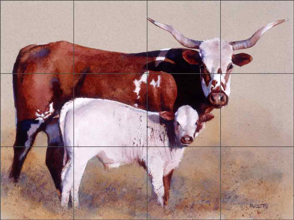 Mother and Child Reunion by John Fawcett Ceramic Tile Mural JFA001