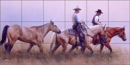 The New Recruit by John Fawcett Ceramic Tile Mural - JFA005