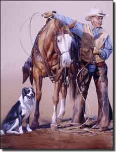"Fawcett Western Cowboy Ceramic Accent Tile 6"" x 8"" - JFA007AT"