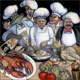 Over the Grill by Jann Harrison Ceramic Tile Mural - JHA005