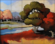 By the Water's Edge by Jann Harrison Ceramic Tile Mural JHA007