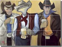 "Harrison Club Beer Art Ceramic Tile Mural 24"" x 18"" - JHA011"
