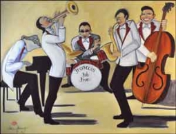 "Harrison Music Band Ceramic Accent Tile 8"" x 6"" - JHA012AT"